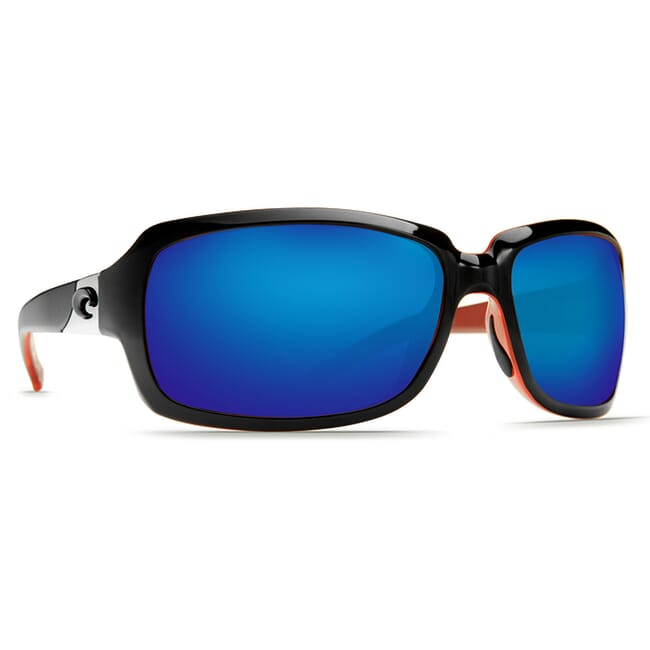 Costa Isabela Black/Coral Frame Sunglasses IB-32