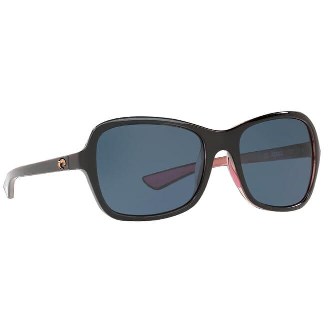 Costa Kare Shiny Black Hibiscus Frame Sunglasses KAR-132