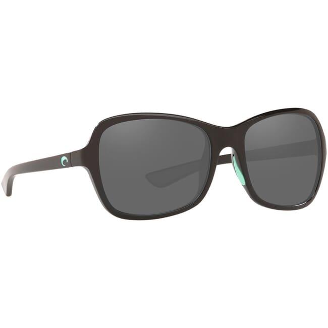 Costa Kare Shiny Black w/Mint Logos Frame Sunglasses KAR-203