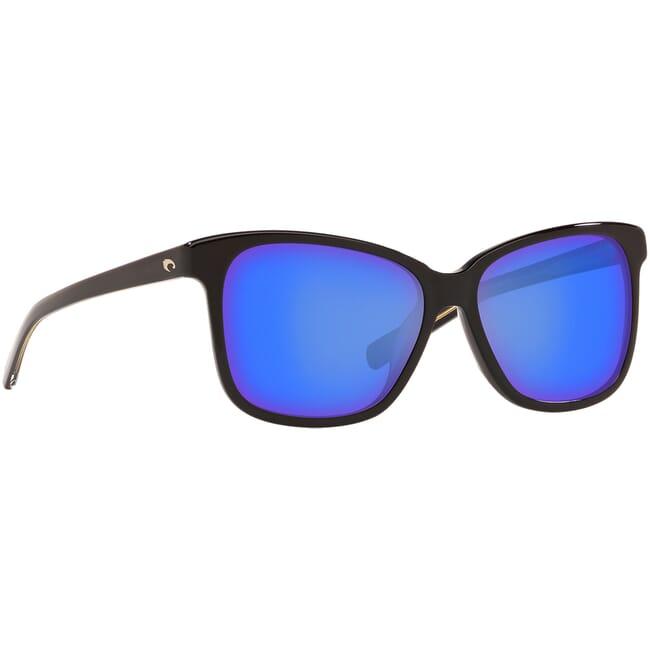Costa May Shiny Black Frame Sunglasses MAY-11
