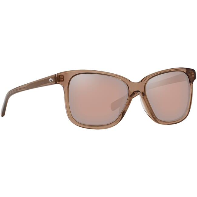 Costa May Shiny Taupe Crystal Frame Sunglasses MAY-258