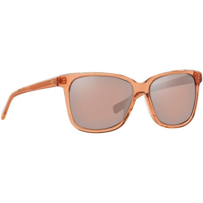 Costa May Shiny Coral Crystal Shell Frame Sunglasses MAY-211