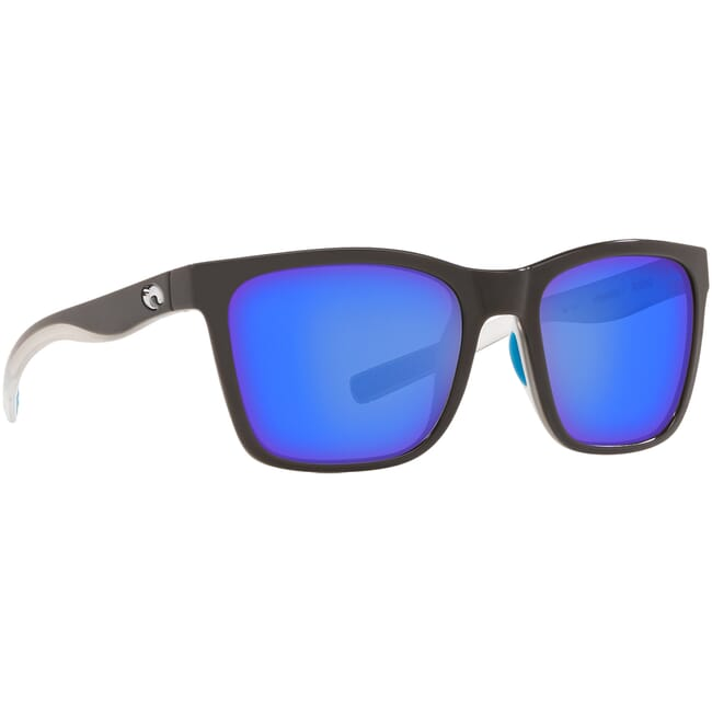 Costa Panga OCEARCH SHINY WHITE SHARK Sunglasses w/ Blue Mirror 580P Lenses PAG-225OC-OBMP