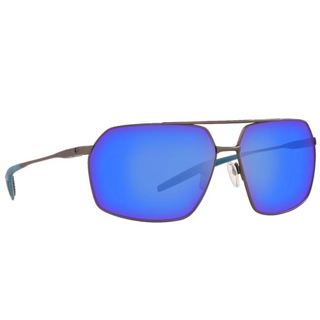 Costa Pilothouse Matte Dark Gunmetal + Deep Blue/Black Frame Sunglasses PLH-247