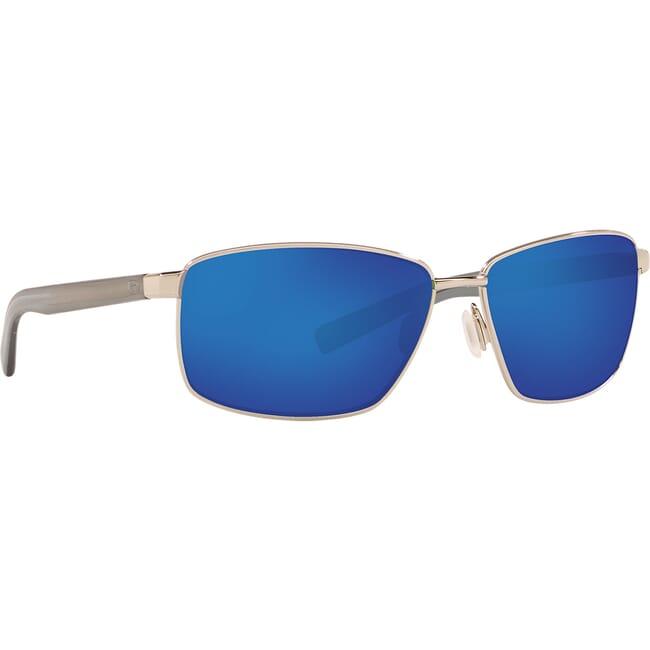 Costa Ponce Shiny Silver Frame Sunglasses PNC-18