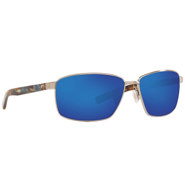 Costa Ponce Brushed Silver Frame Sunglasses PNC-262