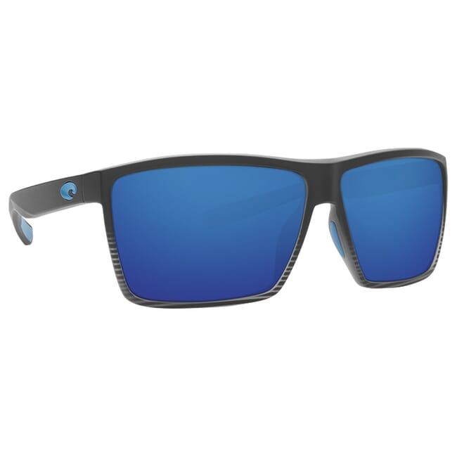Costa Rincon Matte Smoke Crystal Fade Frame Sunglasses w/ Blue Mirror 580G Lenses RIN-179-OBMGLP