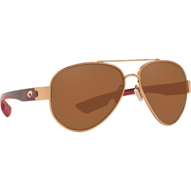 Costa South Point Shiny Brushed Gold + Rose Tortoise Temples Frame Sunglasses SO-284