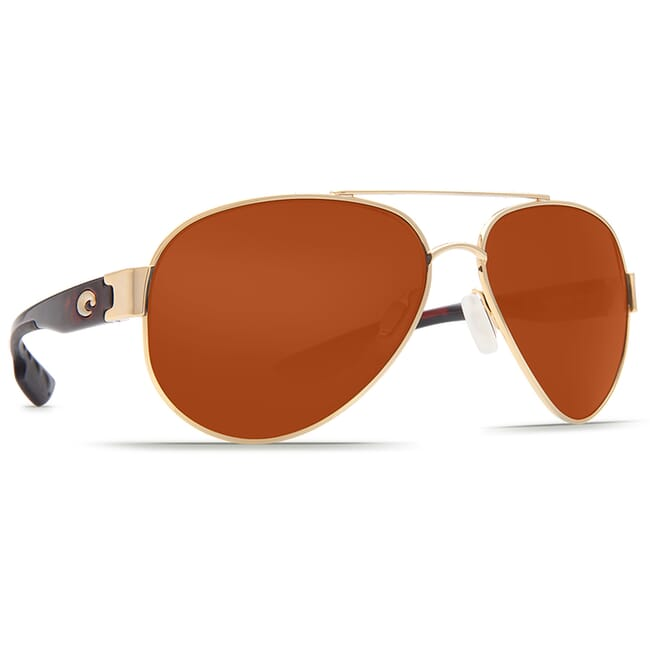 Costa South Point Rose Gold w/Light Tort Temples Frame Sunglasses w/ Copper 580P C-Mate 1.50 Lenses SO-84-OCP-1.50