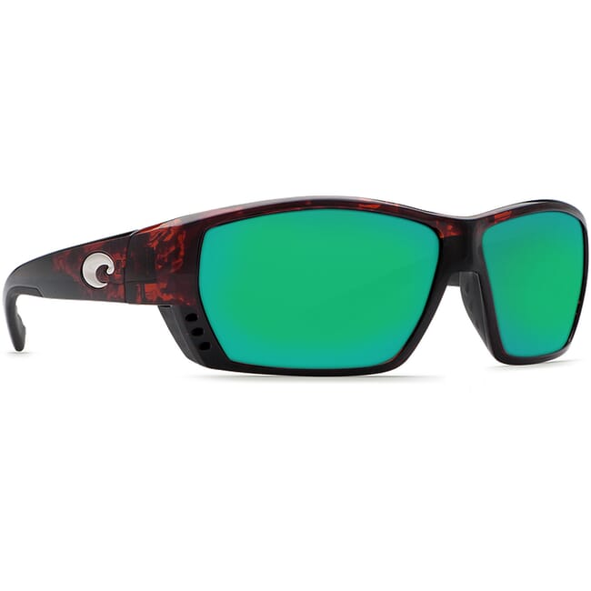 Costa Tuna Alley Tortoise Frame Sunglasses w/ Green Mirror C-Mate 1.50 Lenses TA-10-OGMP-1.50