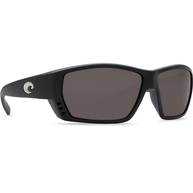 Costa Tuna Alley Matte Black Frame Sunglasses w/ Gray 580P C-Mate 1.50 Lenses TA-11-OGP-1.50