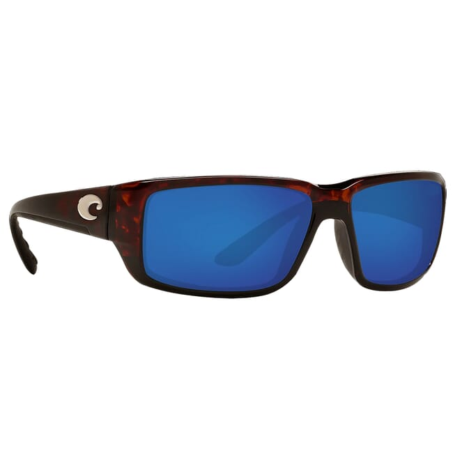 Costa Fantail Tortoise Global Fit Frame Sunglasses w/ Blue Mirror 580P Lenses TF-10GF-OBMP