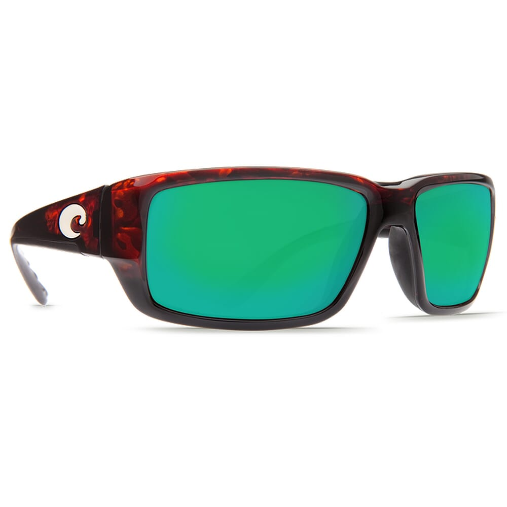 Costa Fantail Tortoise Frame Sunglasses w/Green Mirror 580G Lenses - New Without Tags 06S9006-90063559