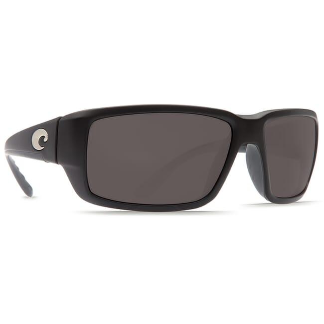 Costa Fantail Matte Black Global Fit Frame Sunglasses w/ Gray 580P Lenses TF-11GF-OGP