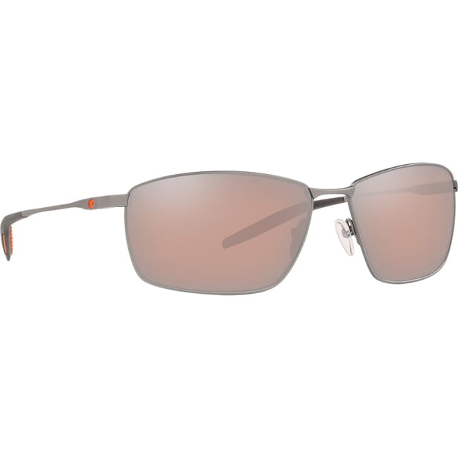 Costa Turret Matte Silver + Translucent Grey/Orange Sunglasses TRT-228