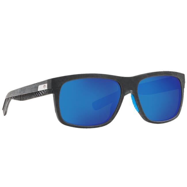 Costa Untangled Baffin Net Gray w/Blue Rubber Sunglasses w/ Blue Mirror 580G Lenses UC2-00B-OBMGLP