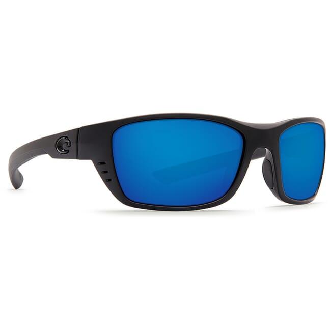 Costa Whitetip Blackout Frame Sunglasses w/ Blue Mirror 580P C-Mate 1.50 Lenses WTP-01-OBMP-1.50
