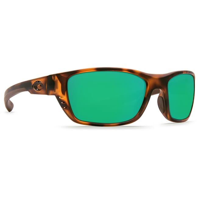 Costa Whitetip Matte Retro Tortoise Frame Sunglasses w/ Green Mirror C-Mate 1.50 Lenses WTP-66-OGMP-1.50