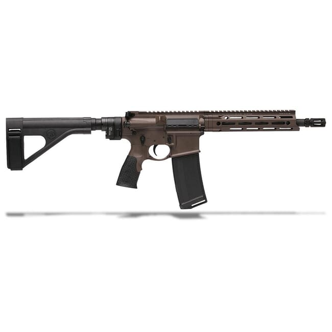 "Daniel Defense DDM4 V7 Law Tactical 5.56 NATO 10.3"" 1:7 Mil Spec Brown Pistol 02-128-19050"
