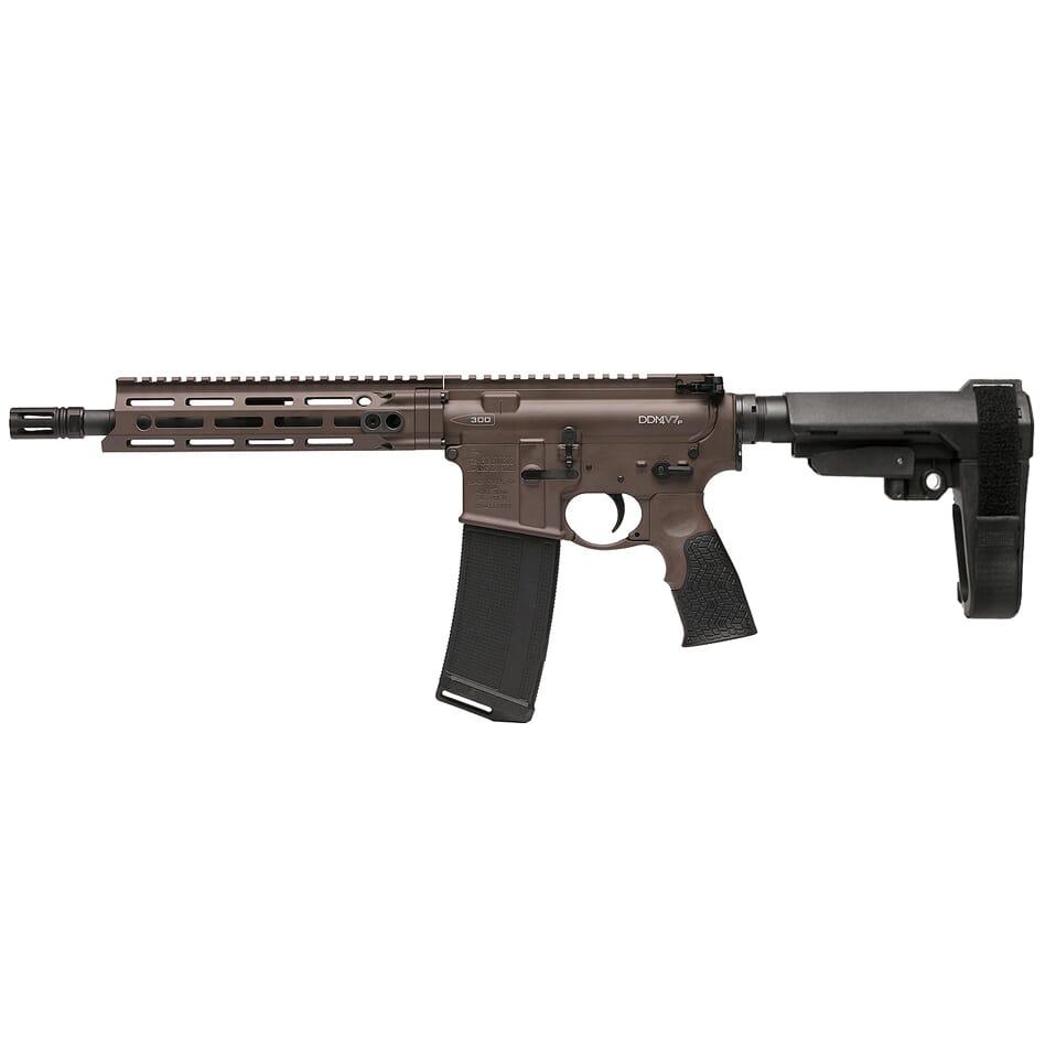 """Daniel Defense DDM4 V7 .300 Blk 10.3"""" 1:8 Mil Spec Brown Pistol 02-128-00166"""
