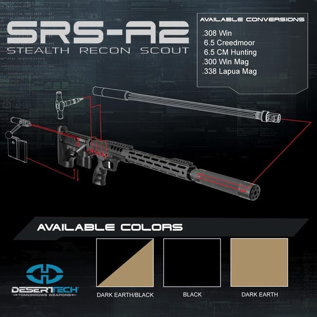 Desert Tech SRS A2 Rifle Kit DTA_SRSA2_RH_Kit