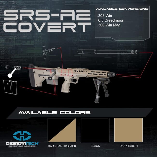 Desert Tech SRS A2 Covert Rifle Kit DTA_CovertA2_RH_Kit