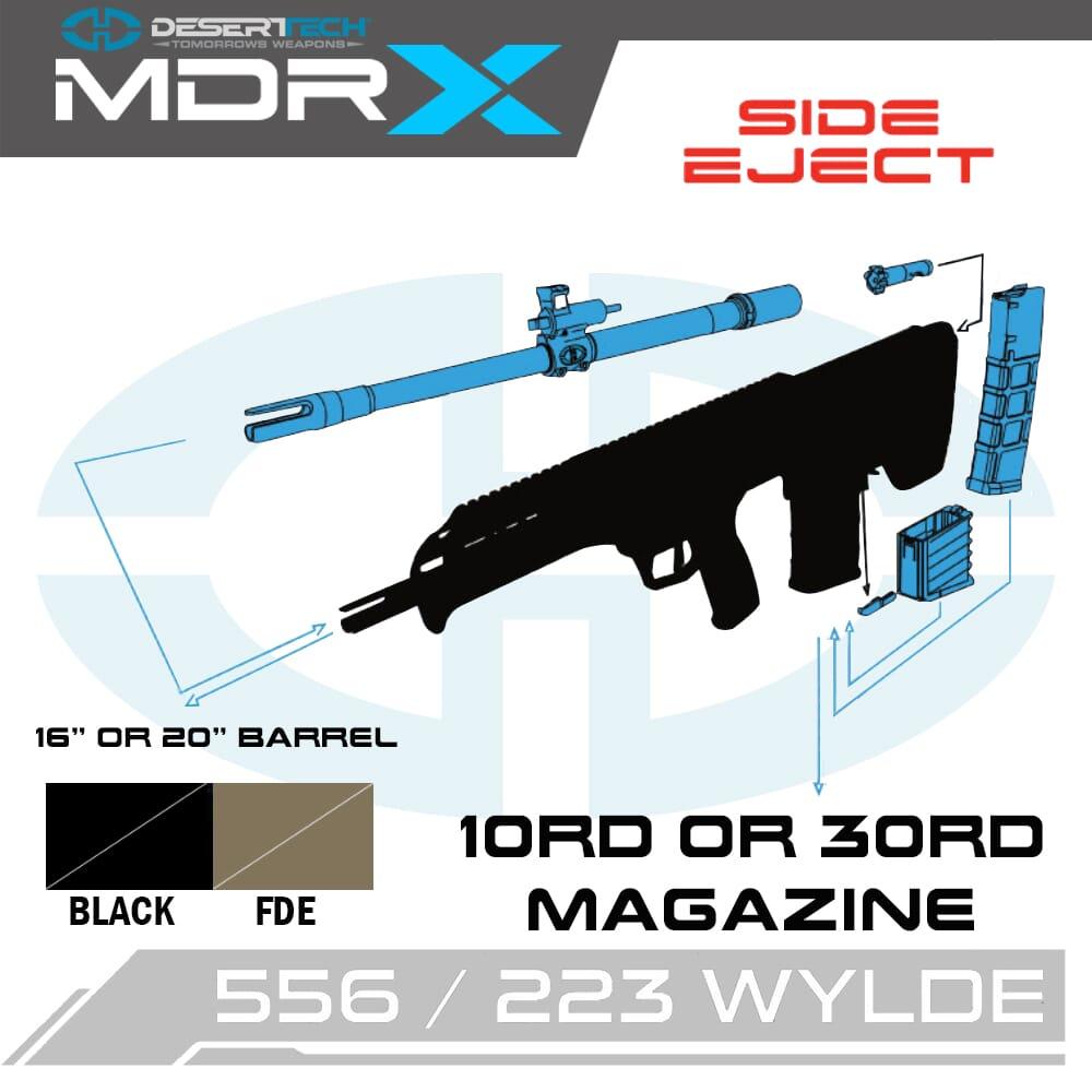 Desert Tech MDRx .223 Wylde Side Ejection Rifle Kit
