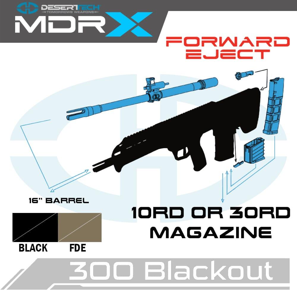 Desert Tech MDRx .300 Blackout Forward Ejection Rifle Kit
