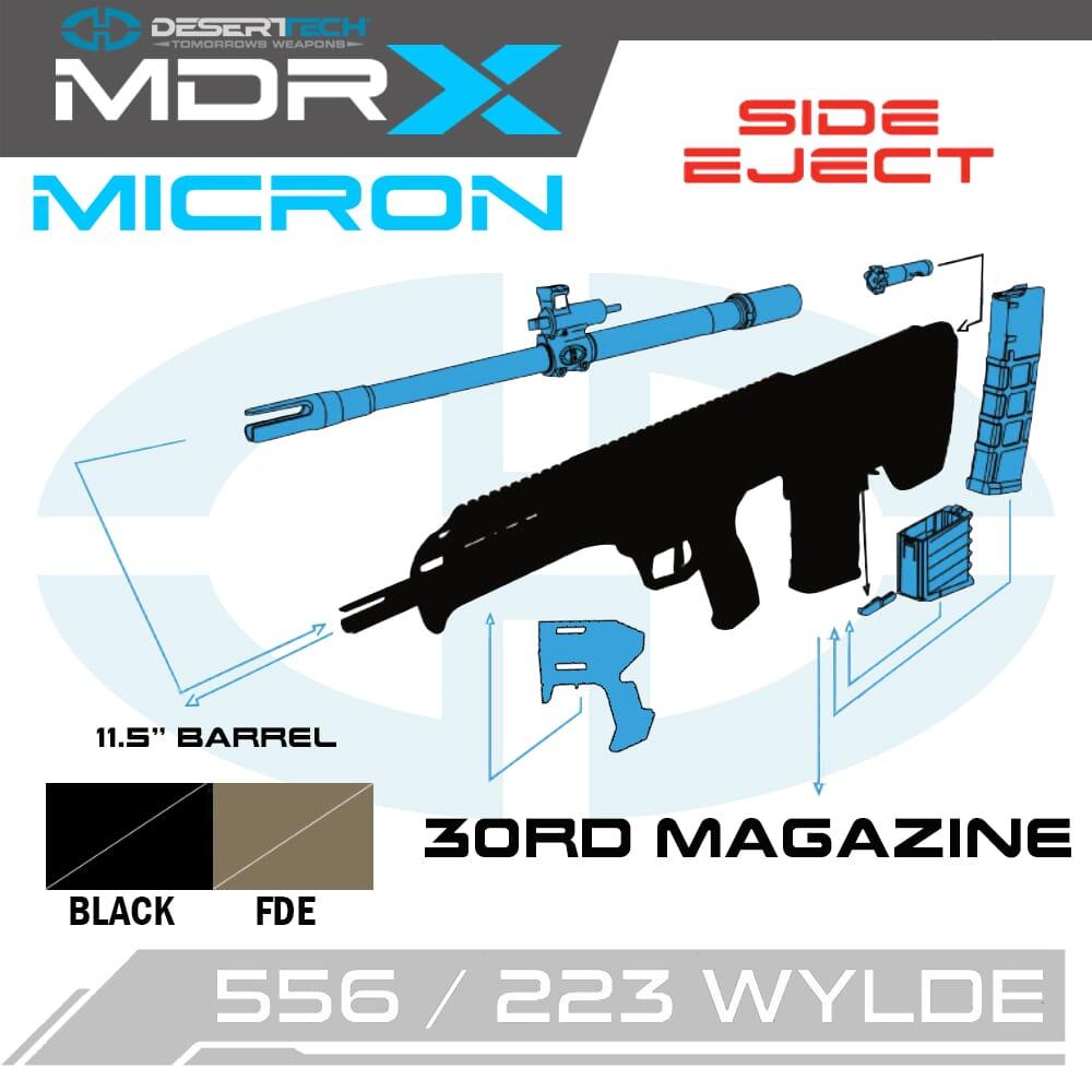 Desert Tech MDRX Mircon .223 Wylde Side Ejection Short Barreled Rifle Kit (NFA)