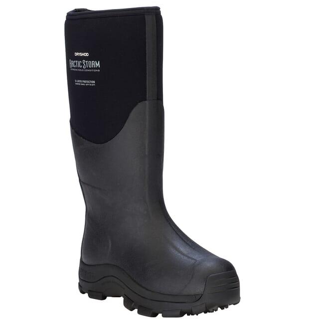 Dryshod Arctic Storm Hi Blk/Gry Outdoor Sport Boots ARS-MH-BK
