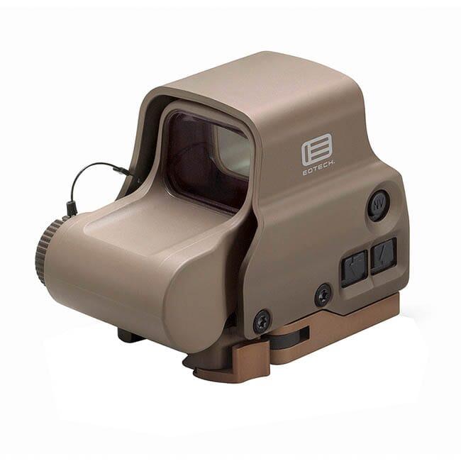 EOTech Holographic Sight, 65 MOA ring, 1 MOA dot, QD lever, Tan