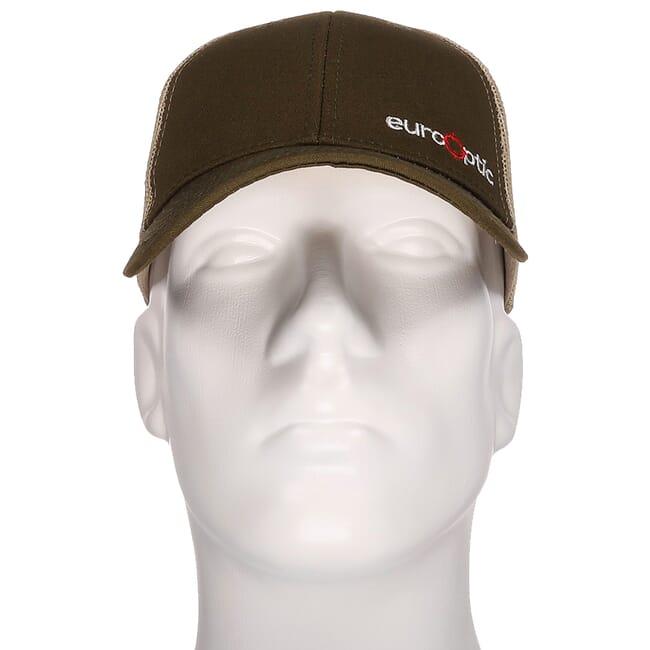 EuroOptic Olive Green/Tan Logo Hat w/ Mesh 190207-3