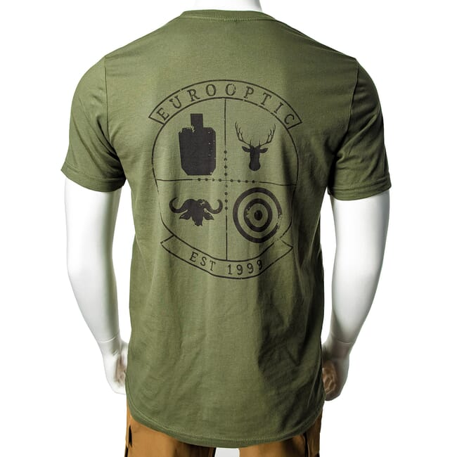 EuroOptic Brand Squad Military Green SS Tee Small EO-TEE-3001C-MG-SQD-S
