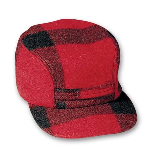 Filson SM Red/Black Mackinaw Cap 60040