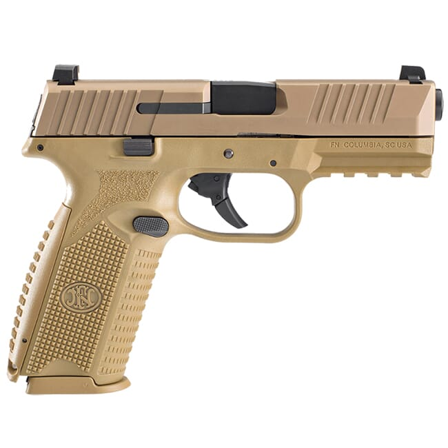 "FN 509, 9mm NMS FDE/FDE 4"" Bbl Pistol w/ (2) 10RD Mags 66-100490"
