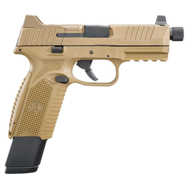 FN 509 Tactical 9mm NMS FDE/FDE NS (1) 17rd Mag (2) 24rd Mag - Optics Ready 66-100373