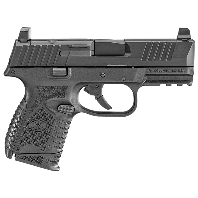 FN 509 Compact MRD 9mm NMS BLK/BLK Pistol w/ (1) 12 Rd & (1) 15 Rd Mag 66-100571