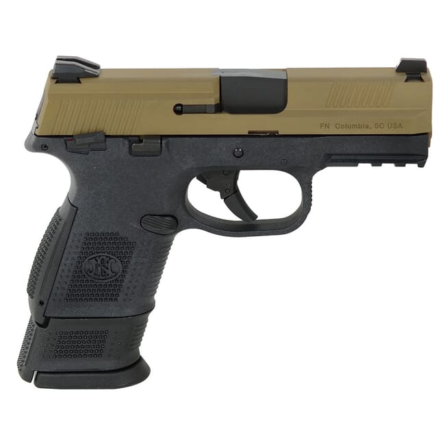 FN FNS-9 Compact 9mm MS BLK/FDE DS Pistol with (1) 12-Rnd (1) 17-Rnd Pistol 66-100231