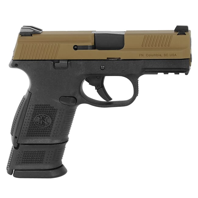FN FNS-9 Compact 9mm NMS BLK/FDE DS Pistol with (1) 12-Rnd (1) 17-Rnd Pistol 66-100230