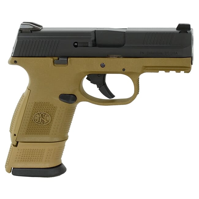 FN FNS-9 Compact 9mm NMS FDE/BLK DS Pistol with (2) 12-Rnd (1) 17-Rnd Pistol 66-100356