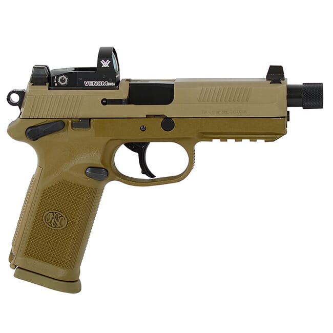 FN FNX-45 Tactical .45 ACP FDE/FDE NS Pistol with 2X10 Vortex Venom Red Dot 66-100660