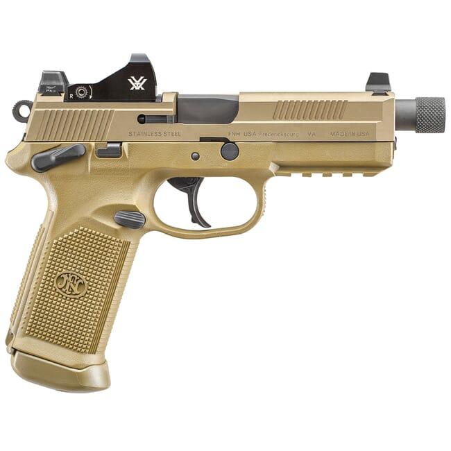 FN FNX-45 Tactical .45 ACP FDE/FDE NS Pistol w/ 2x15 Vortex Viper Red Dot 66-100866