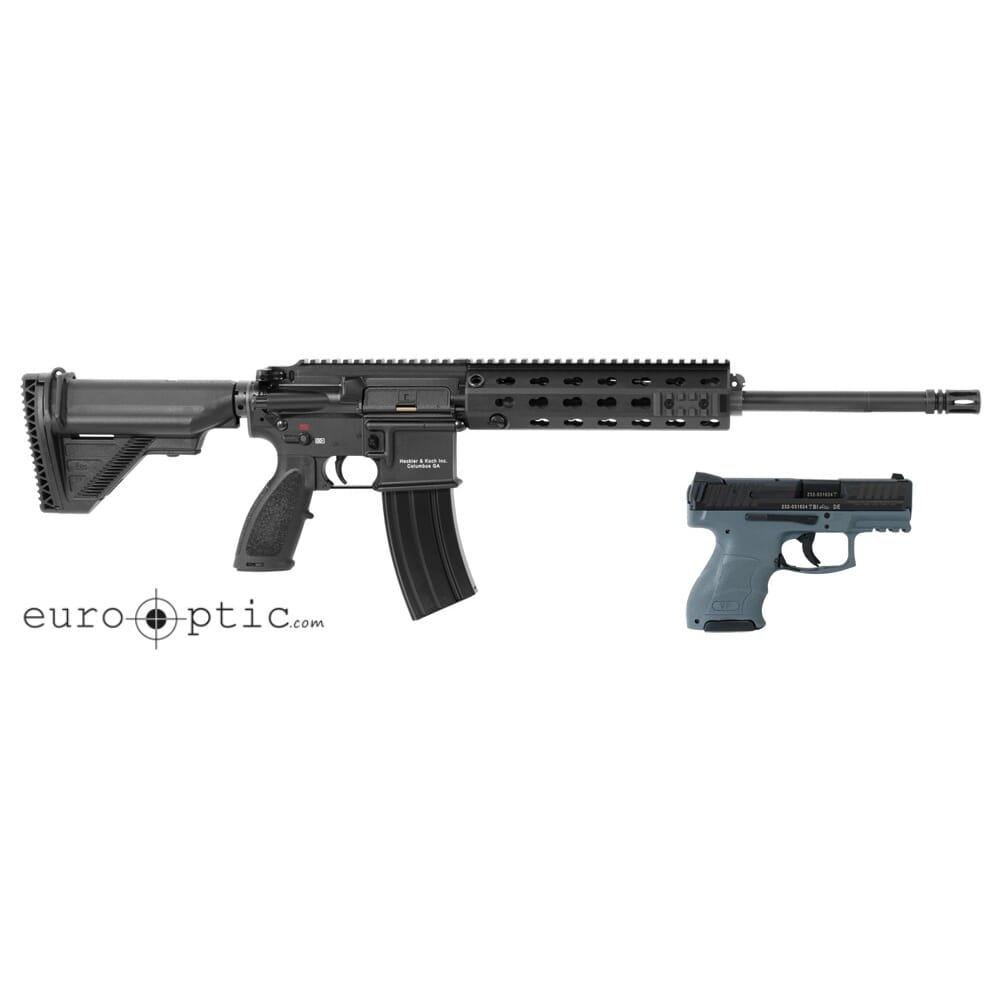 HK 5 56 MR556-A1 Rifle w/30rd mag, VP9SK Grey w/ (2) 10rd mags, & MR  Explorer Case 91000010