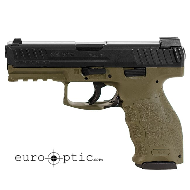 Heckler Koch VP9 9mm 15rd OD Green Pistol 700009GRLE-A5