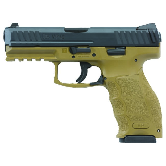 Heckler Koch VP40 .40 S&W FDE Pistol 700040FDELE-A5
