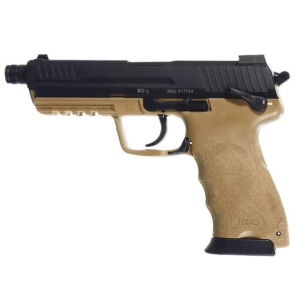 HK45 Officer .45 ACP Tan Pistol