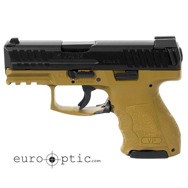 HK VP9SK Subcompact 9mm FDE (3) 10rd Magazines & Night Sights 81000096