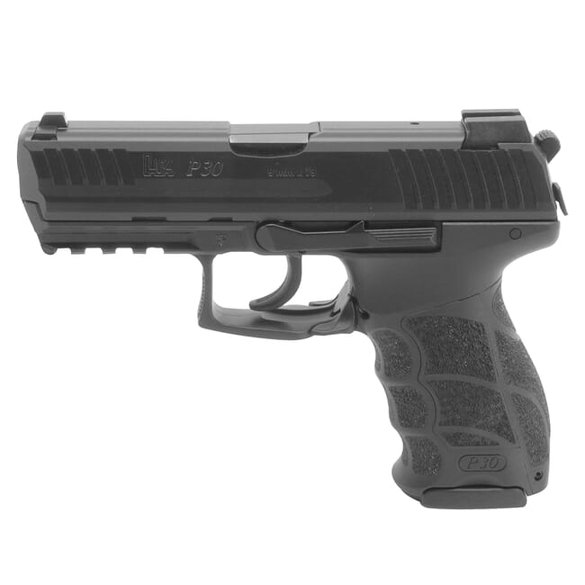 HK P30 (V3) 9mm DA/SA Pistol w/ Rear Decocking Button (3) 17rd Mags and Night Sights 81000108