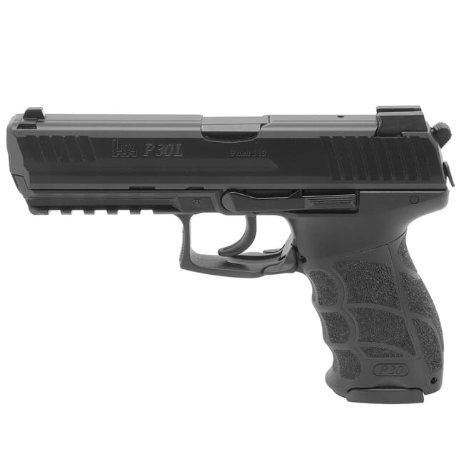 HK P30L, Long Slide (V3) 9mm DA/SA Pistol w/ Rear Decocking Button, (3) 10rd Mags & Night Sights 81000122