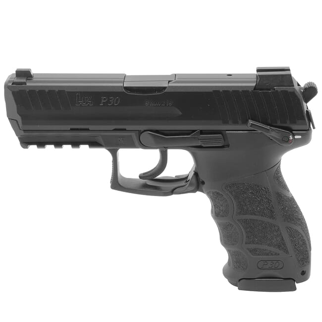 HK P30S (V3) 9mm DA/SA Pistol w/ Ambi. Safety/Rear Decocking Button (3) 17rd Mags and Night Sights 81000112